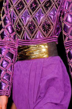 Purple: Balmain at Paris Fashion Week Fall 2013 Shades Of Purple, Magenta, Lilac, Purple Swag, Mauve, Plum Purple, Periwinkle, Pink, Paris Fashion Week