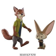Disney  * ZOOTOPIA Movie  Character Pack   Nick and Finnick Toy Figures  NEW #TOMY