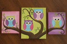 Bright Owls by remembereveryday on Etsy
