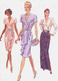 90s Vogue Sewing Pattern 7782 Womens Day or Evening by CloesCloset, $11.00