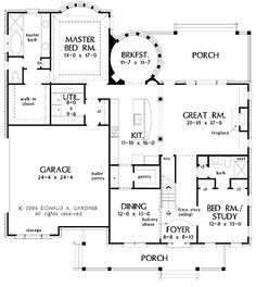 Floor Plans AFLFPW05311 - 2 Story New American Home with 6 Bedrooms, 5 Bathrooms and 3,580 total Square Feet