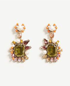 Primary Image of Spring Crystal Baguette Earrings