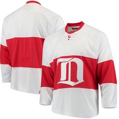 42d022584c4 Men s Detroit Red Wings CCM White Classic Authentic Throwback Team Jersey