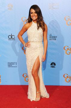 Lea Michele at the Golden Globes 2013