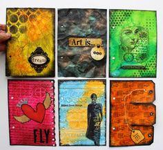 Marjie Kemper Art Journal inspiration. Simple Pleasures Rubber Stamps and Scrapbooking.