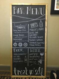 Chalkboard Bar Menu