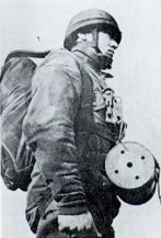 Paratrooper with Carrier Pigeon
