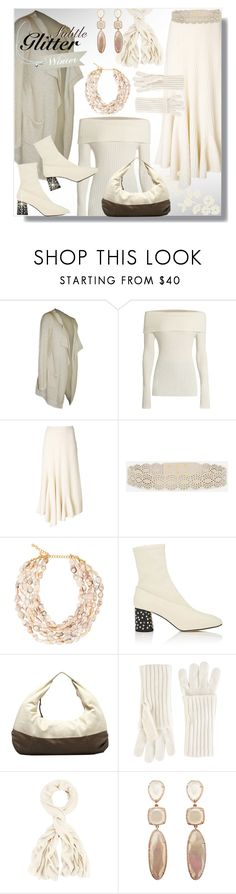 """""""Metallic Cardigan"""" by simply-one ❤ liked on Polyvore featuring The Row, Ports 1961, CHARLES & KEITH, Kenneth Jay Lane, Helmut Lang, Jolie By Edward Spiers and White + Warren"""