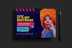 Best Kid's Party Flyer Template CreativeWork247 - Fonts, Graphics, Them...