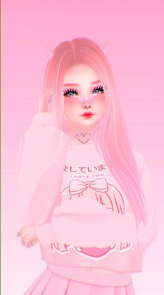 Anime Girl Pink, Anime Girl Cute, Cute Girl Pic, Anime Art Girl, Cartoon Girl Images, Cute Cartoon Pictures, Cute Anime Pics, Kawaii Wallpaper, Wallpaper Iphone Cute