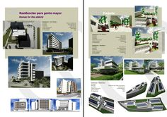 Residencias para Gente Mayor Homes for the elderly Architecture Design, Desktop Screenshot, Catalog, Homes, Projects, Log Projects, Architecture Layout, Houses, Architecture Illustrations