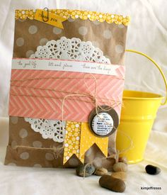 adorable package with paper doily