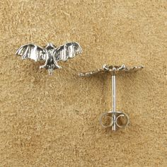 große Fledermaus 925 Silber Ohrstecker Ohrschmuck Belly Button Rings, Jewelry, Snails, Insects, Animals, Silver Stud Earrings, Ear Jewelry, Ear Rings, Jewellery Making