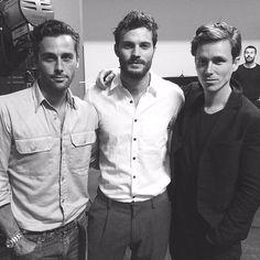 """New photo of Jamie Dornan with friends. Eddie Redmayne """