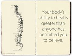 , Your body has an incredible innate intelligence to heal itself. , Your body has an incredible innate intelligence to heal itself. Chiropractic Quotes, Chiropractic Office, Family Chiropractic, Chiropractic Wellness, Chiropractic Assistant, Chiropractic Adjustment, Craniosacral Therapy, Spine Health, Wellness Center