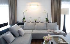 Elegancki apartament z komfortową strefą wypoczynkową, sofa Protos, Perobell. www.bartekwlodarczyk.com