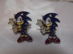 Hedgehog Video Game Cufflinks Video Jewelry Weddings by AGothShop, $18.00