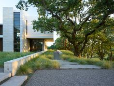 Modern family home facade
