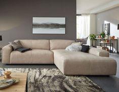 Ein Echter Hingucker! Natura Denver Ecksofa In Beigem Leder. #sofa #couch #