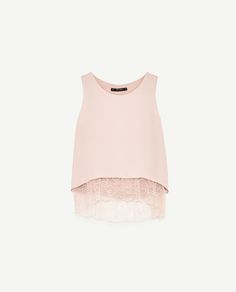 Image 8 of DOUBLE LAYER TOP WITH LACE DETAILS from Zara