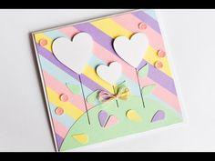 How to Make - Valentine's Day Greeting Card Easy Cute - Step by Step | Kartka Na Walentynki - YouTube