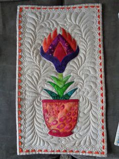 Adventurous Applique and Quilting: Flower in a Pot Quilt Along