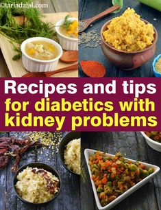 recipes and tips for diabetics with kidney problems - Diabetes & Low Sodium - Kidney Recipes, Diabetic Recipes, Diet Recipes, Vegetarian Recipes, Diabetic Foods, Recipies, Kidney Friendly Foods, Diabetic Friendly, Kidney Disease Diet