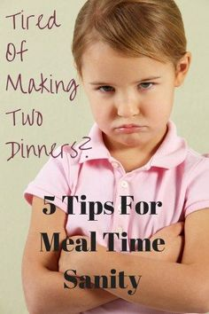 5 Tips For Meal Time Sanity | The Average RD | #Parenting