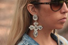 Statement Handmade Cross Earrings | FASHION that stands out | FREE shipping in Australia at Uppermoda