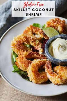 These homemade gluten free coconut shrimp hit the mark in every way possible- incredibly flavorful and made with healthy and fresh ingredients! These make a great appetizer to share with friends! #appetizerrecipes #shrimp #coconutshrimp Gluten Free Appetizers, Shrimp Appetizers, Great Appetizers, Healthy Appetizers, Easy Healthy Recipes, Appetizer Recipes, Healthy Meals, Yummy Recipes, Shrimp And Rice Recipes