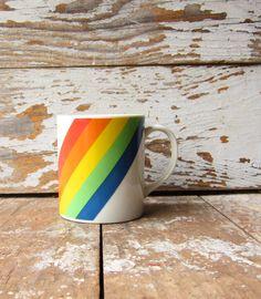 Vintage Rainbow Mug. $6.50, via Etsy.