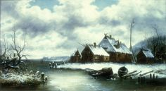 Winter Snow Scene, William Charles Anthony Frerichs, Gift of the Cape Fear Corporation