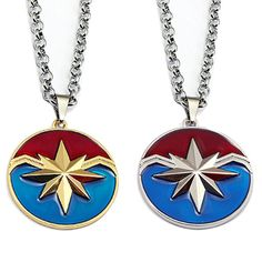 Captain Marvel Necklace Metal Shield The Avengers Link Chain Pendant Necklaces