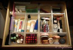 Organized makeup drawer using USA trays Makeup Drawer Organization, Organization Ideas, Organizing, Ikea Usa, Ikea Home, Summer Bucket Lists, Make Me Up, Diy Desk, Cleaning