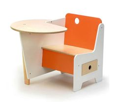 20 Awesome Kids Desks for Painting and Writing : 20 Awesome Kids Desks For Painting And Writing With Orange And White Wooden Kids Table And Chair