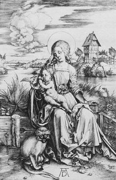 The Virgin with the Dragonfly, c.1495, Engraving, 240 x 186 mm,. Staatliche Museen, Berlin
