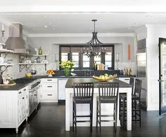 Like the grey counters with white cabinets