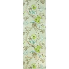 Whitewell_celadon Floral Tie, Wallpaper, Wall Papers, Tapestries, Wallpapers, Tapestry