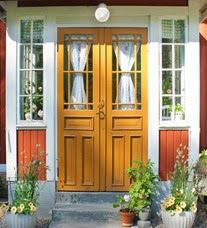 ytterdør Swedish Cottage, Swedish House, Cottage Style, Closed In Porch, Im Coming Home, Front Door Design, House Painting, House Colors, Old Houses
