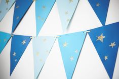 Simple flag banner for outer space party. Use greens and silvers to match theme.