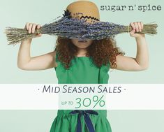 • Mid Season Sales • Οι ενδιάμεσες εκπτώσεις ξεκίνησαν και στο sugar n' spice θα βρείτε τις συλλογές ρούχων Ιkks Catimini και Sorry 4 the mess με -30%. → Επισκεφθείτε το www.sugarnspice.eu για τις αγορές σας  ή ελάτε στο κατάστημά μας στο My Golden Hall: Λεωφόρος Κηφισίας 37Α.