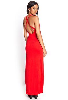 Crossback Surplice Maxi Dress   FOREVER21 - 2000124992