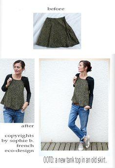 by sophie b. l'éco-design à la française  Refashioning of a vintage skirt.