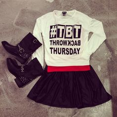 @wetseal | The perfect Throwback Thursday outfit - Right? #tbt #cuteoutfit #outfitinspo