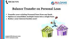 Balance Transfer on Personal Loan - #Ruloans  - Ruloans