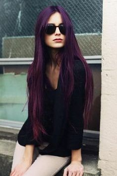 Dark Aubergine Hair Color
