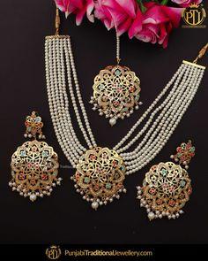 Antique Jewellery Designs, Fancy Jewellery, Gold Jewellery Design, Stylish Jewelry, Simple Jewelry, Gold Jewelry, Punk Jewelry, Bohemian Jewelry, Pearl Necklace Designs