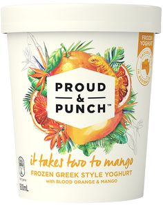 Proud & Punch | It takes two to mango | packaging