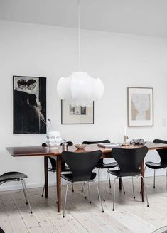 37 Gorgeous Modern Dining Room Ideas You Will Love Dining Room Inspiration, Interior Inspiration, Modern Interior, Interior Design, Minimalist Room, Dining Room Design, Grey Walls, Chair Design, Dining Table
