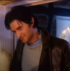 The Vicar of Dibley - Richard Armitage as Geraldine's love interest Harry Kennedy - love this scene, how he knocks on the door for a third time just to take one last look at her :)